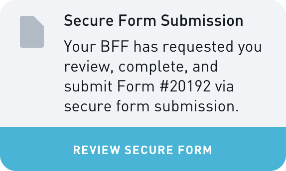 BFF Form Submission Widget