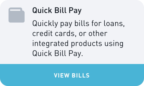 BFF Quick Bill Pay Widget