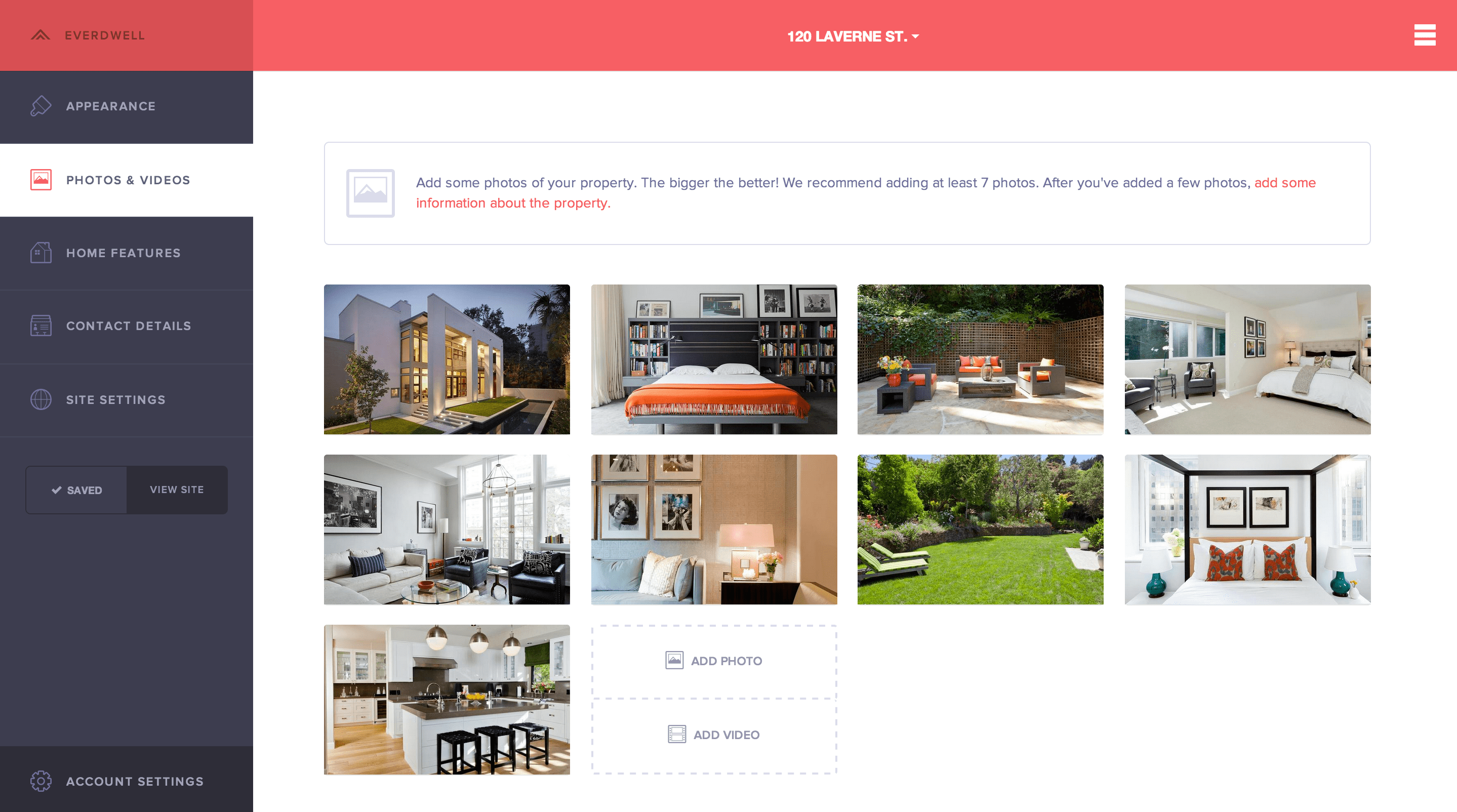 Everdwell is a quick and easy website builder for your home and realtors.