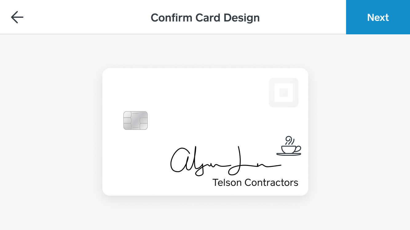 Square Card ordering flow